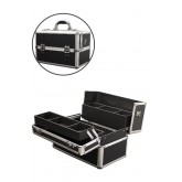 Marianna Makeup Case Black Aluminum Small