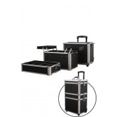 Marianna Makeup Aluminum Beauty Case On Wheels