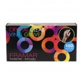 Framar Crystal Clear Vinyl Gloves 100pk